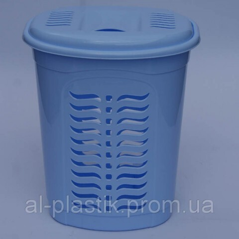 Корзина для белья овальная голубая, Ал-Пластик, Арт.: 300
