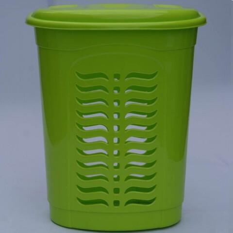 Корзина для белья овальная салатовая, Ал-Пластик, Арт.: 301