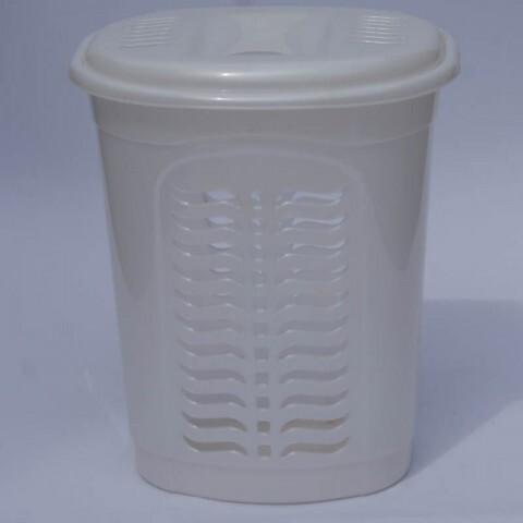 Корзина для белья овальная белая, Ал-Пластик, Арт.: 303
