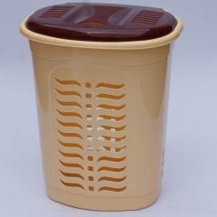 Корзина для белья овальная бежевая, Ал-Пластик, Арт.: 304