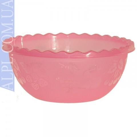 Таз для фруктов 3.5л Розовый, Ал-Пластик, Арт.: 376
