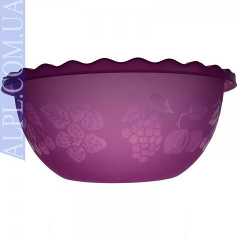 Таз для фруктов 3.5л Малиновый, Ал-Пластик, Арт.: 7307