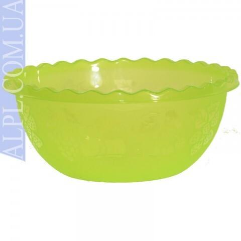 Таз для фруктов 3.5л Салатовый, Ал-Пластик, Арт.: 377