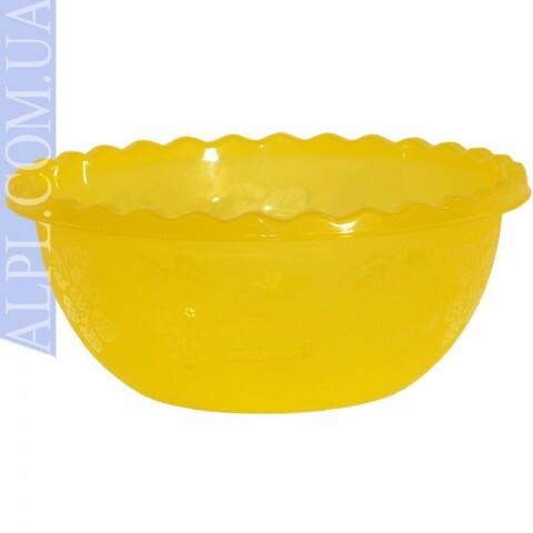Таз для фруктов 6 л Желтый, Ал-Пластик, Арт.: 379