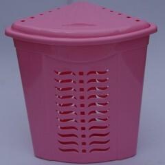 Корзина для белья угловая розовая, Ал-Пластик, Арт.: 307