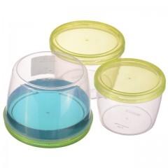 Набор контейнеров TWIST 3 шт круглые 0,6+0,88+1,18 л Ал-Пластик