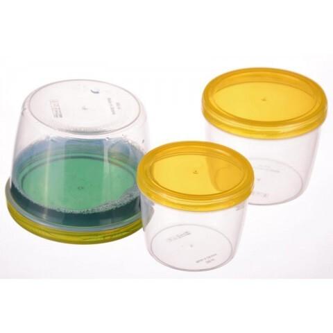 Набор контейнеров TWIST 3 шт круглые 0,25+0,37+0,6 л Ал-Пластик