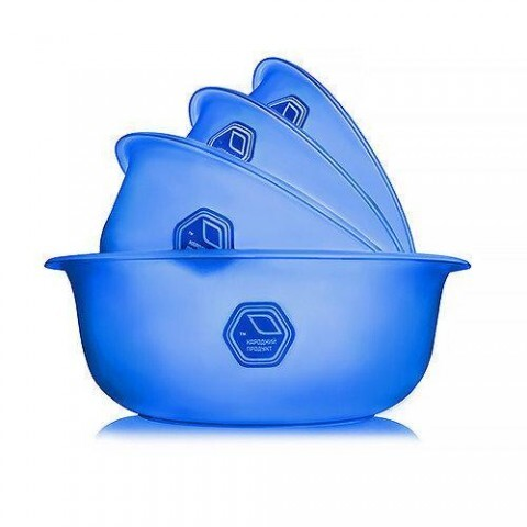 Набор мисок прозрачных 0,7+1,5+2+3 л синие Народный продукт 74