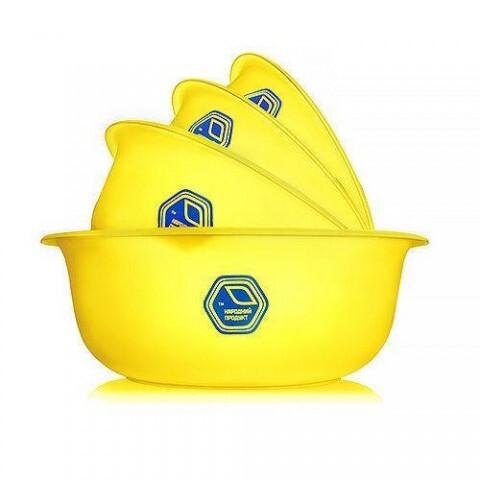 Набор мисок прозрачных 0,7+1,5+2+3 л жёлтые Народный продукт 74