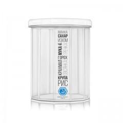 Ёмкость для сыпучих продуктов 1,5 л белая крышка Народный продукт 84